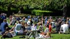 Sunshine in Dublin People take a lunch-time break in the sunshine at St Stephen's Green , Dublin. Photograph: Eric Luke / The Irish Times