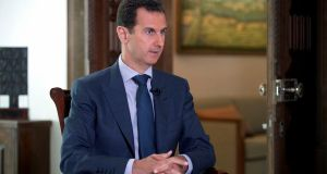 Syria's president Bashar al-Assad. The US air strike on Friday morning is a significant blow to his regime.  Photograph: Syrian presidency/AP