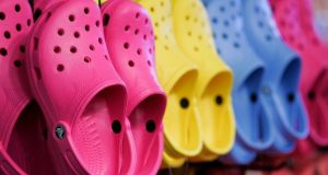 Crocs shock. Photograph: Dina Rudick/The Boston Globe via Getty Images