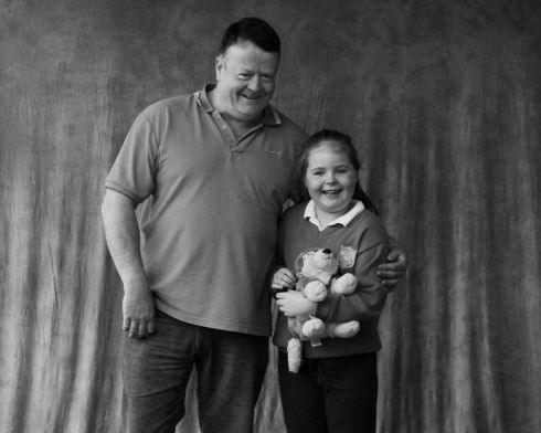 Paul Logan and grandchild  Jayden Beirne. Photograph: Mary Reynolds