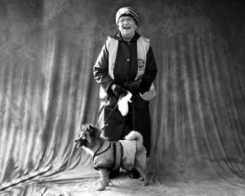 Bridie Murphy and her dog Beauty. Photograph: Brian Farrell