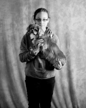 Avril Crowe and her dog Coco. Photograph: Mary Faughnan