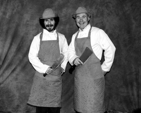 Father and son  butchers Pearse (son)  and Hugh Logan. Photograph: Geraldine McGowan