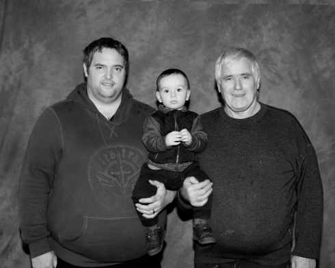Garry Canning with his son Darragh and father Michael. Photograph: Therese Foy