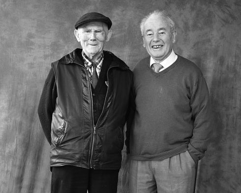 Micheal Cumiskey and Jim Rogers. Photograph: Oliver Fallon