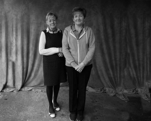 Mary Quinn and Geraldine Beirne. Photograph: Catherine Tiernan The shoot took place over 12 hours in an outdoor photo studio in Mohill on Friday 31st March. The project was made possible by Leitrim Arts Office through the Artist in the Community Scheme.