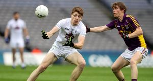 Kevin Feely has been a revelation for Kildare in the league this year and looks like he could carry the county's midfield for years to come. Photograph: Ryan Byrne/Inpho