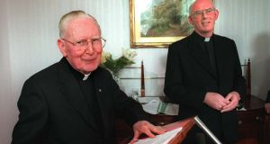 The late Cardinal Cahal Daly and former Catholic primate cardinal Seán Brady were both mentioned in the Northern Ireland Historical Institutional Abuse Inquiry report in relation to Smyth. File photograph: Matt Kavanagh