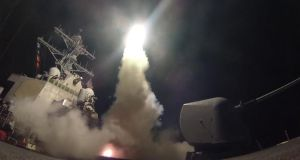 Trigger-happy Trump?: USS Porter fires a Tomahawk missile at Syria from the Mediterranean. Photograph: Seaman Ford Williams/US Navy/PA Wire