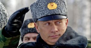 Growing  belligerence: Russian president Vladimir Putin.  Photograph: Maxim Marmur/AFP/Getty