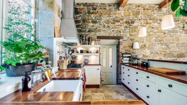 Exposed granite walls are the star in Susan Gorman and Alan Ross's home in Tinahely, Co Wicklow