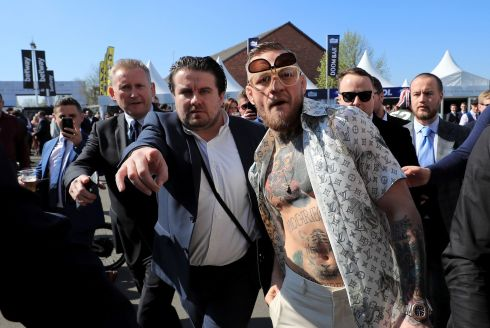 Conor McGregor  on Grand National Day at Aintree Racecourse. Photograph: Peter Byrne/PA Wire