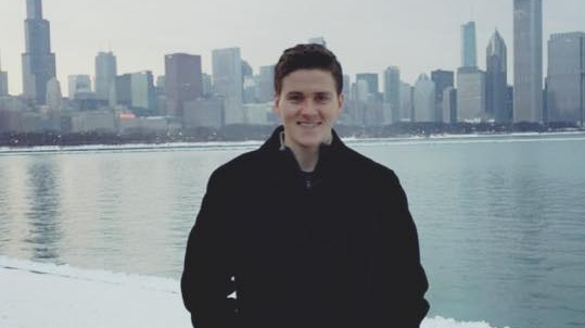 "Patrick Hynes-Foy, sales analyst with Aerogen, Chicago: ""It's a difficult decision to choose your college course but a business degree will allow you to develop skills that will stand to you for the rest of your life, regardless of what career you eventually pursue."""
