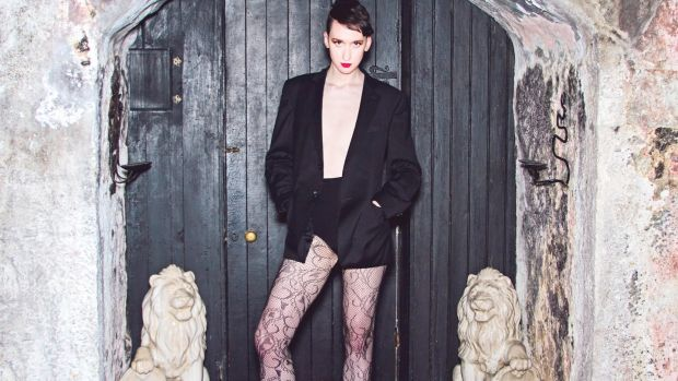 "Model Ivan Fahy: ""I have long legs and the worst thing is when a man whistles at me thinking I am female, then realises that I am not."" Photograph: Agnes of PurpleBlues Photography"