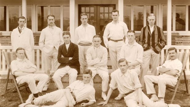 Cricket team: By the end of the war, four of the men in this picture, including MacHutchison, were dead. Two more got caught up in the second World War in the Far East and were interned by the Japanese