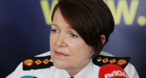 Garda Commissioner Nóirín O'Sullivan told superintendents the inflating of breath test data was 'shameful' and 'absolutely shocking'. Photograph: Stephen Collins/Collins Photos