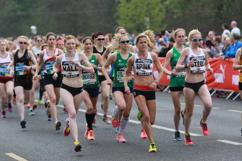 The Great Ireland Run in Dublin's Phoenix Park. Start of the 10k Elite Women & AAI Womens National Championship.  Photograph Nick Bradshaw