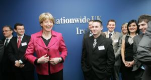Then tánaiste Mary Coghlan at the opening of Nationwide UK offices at Spencer Dock in  2009. The bank is to pull out of Ireland. Photograph: Cyril Byrne