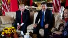 "President Donald Trump meeting President Xi Jinping of China in Palm Beach: Mr Xi said they ""got deeply acquainted, established a kind of trust and built an initial working relationship and friendship"". Photograph: Doug Mills/New York Times"