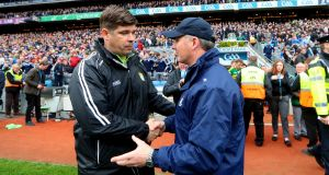 Éamonn Fitzmaurice's Kerry brought Dublin's 36-match unbeaten run to an end at Croke Park. Photograph: James Crombie/Inpho