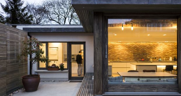 The Kitchen Extension To A Drumcondra House Has Light Coming In On Three Sides