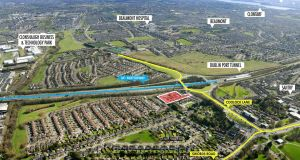 A residential site of 0.76 of a hectare (1.88 acres) a short distance from Santry village, D9, for sale in excess of €1m