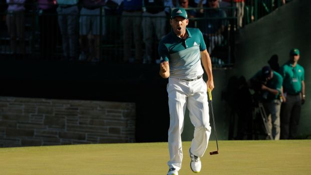 Sergio Garcia pays tribute to Severiano Ballesteros as he wins first major