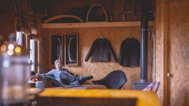 The wooden walls of the interior of his pods are left untreated so as to celebrate the materials used throughout. Photograph: Declan Devlin