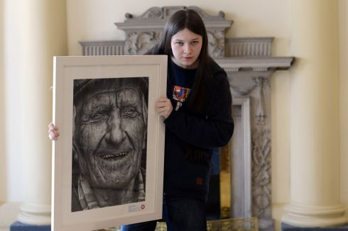 2014:  Shania Mc Donagh from Claremorris, Co Mayo with her winning portrait  Photograph: Cyril Byrne