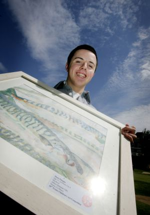 2010:  Shane Finegan (17), from Abbey Grammar School , Newry, Co Dowm.   Photograph: Alan Betson