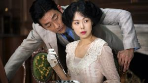 Ha Jung-woo and Kim Min-hee in The Handmaiden. Photograph: Mongrel Media.