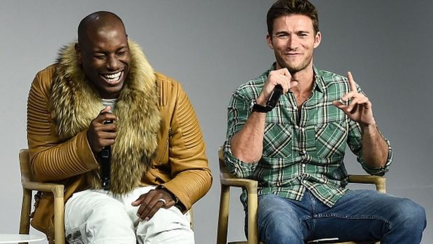 NEW YORK, NY - APRIL 06: Tyrese Gibson and Scott Eastwood promote the film 'The Fate of the Furious' at Apple Store Soho on April 6, 2017 in New York City. (Photo by Daniel Zuchnik/WireImage)