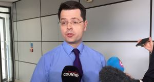 Northern Ireland secretary James Brokenshire: has set Friday as deadline for an agreement to prevent Northern Ireland slipping back to direct rule. Photograph: David Young/PA