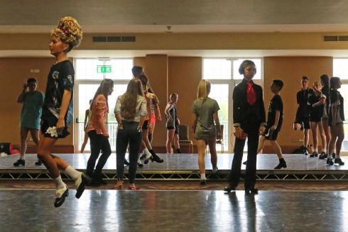 Contestants warming up and practising.  Photograph Nick Bradshaw