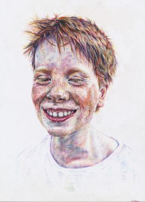 Lucy Deegan, a 17-year-old student from Luggacurren, Co. Laois - a pupil at Gaelcholaiste Cheatharlach in Co Carlow - has been chosen as overall winner of this year's 63rd Texaco Children's Art Competition. Above is her winning work, entitled Tom - Summer.