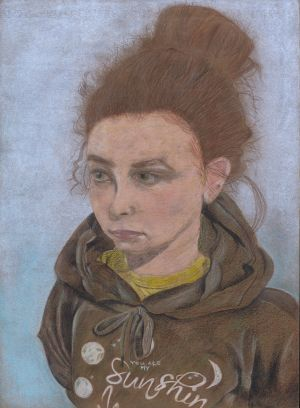 Category B - second prize (€350) was won by Amy Boylan (14), from Gorey Community School, Co Wexford, for her artwork entitled My Best Friend, Halle.