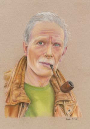 Category B - Third prize (€250) went to Nicole Forster (15), from Wilson's Hospital School, Multyfarnham, Co Westmeath, for her work entitled Portrait Of My Dad.