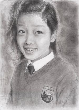 Category C (12-13 years), first prize of €350 went to Amy Zhao (12), a pupil at Scoil Na gCeithre Maistri, Athlone, Co Westmeath, for her self-portrait pencil sketch.