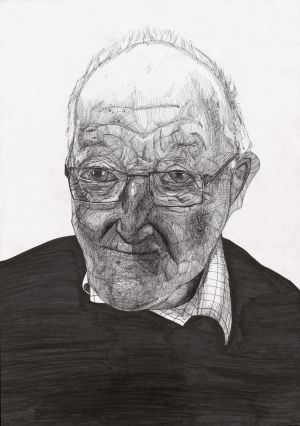 Category C- Second prize (€250) was won by Ciaran Leonard (13), from St Mary's CBS, Portlaoise, for his portrait study entitled Weathered Wisdom.