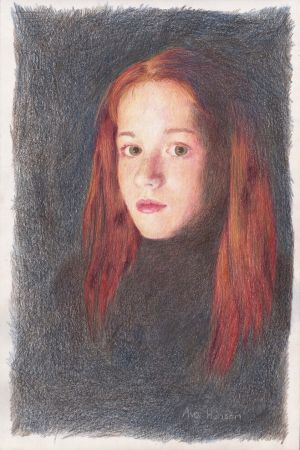 Category D (9-11 years), first prize (€250 Art & Hobby gift voucher) was won by Ava Henson (11), a student at The Harold School, Glasthule, Co Dublin for her self-portrait.