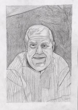 Caregory D - second prize (€200 Art & Hobby gift voucher) was won by Rachel Glynn (11), from Scoil Bhride, Four Mile House, Co Roscommon, for her pencil-sketch entitled My Grandad.