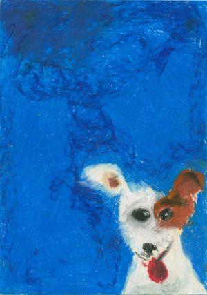 Category E - second prize (€150 Art & Hobby gift voucher) was won by Niall Dalton (7), from St Columba's National School, Co Longford, whose colourful work is entitled Anne's Dog, Molly.