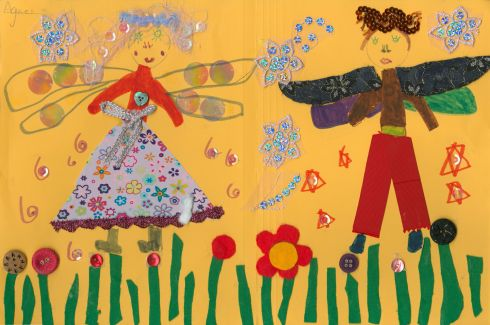 Category F - third prize (€100 Art & Hobby gift voucher) was won by Agnes Mae McCaubrey (5), from Dundonald Primary School, Belfast, for an imaginative work entitled Fairy Garden.