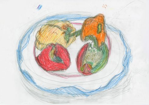 Category G - third prize (€200 Art & Hobby gift voucher) went to Dylan Carroll (17), from St Peter's Special School, Rathgar, for his work entitled Peppers On A Plate.