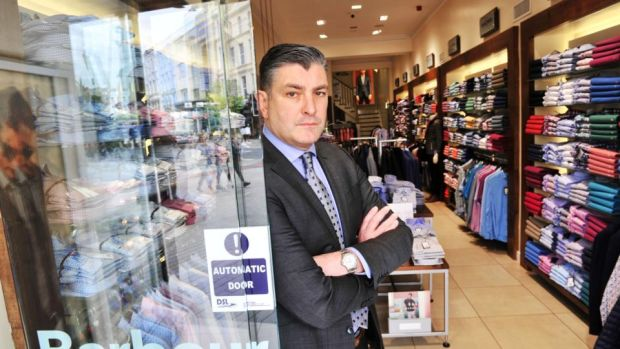 Eddie Mullins,managing director of Fitzgerald's Menswear, was expecting Easter holidays business to be booming. Photograph: Daragh Mc Sweeney/Provision