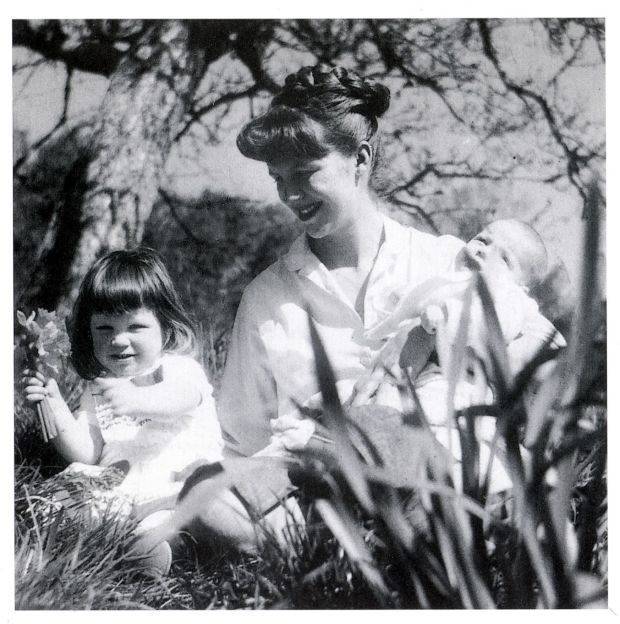 Sylvia Plath with Frieda and Nicholas Hughes, her children with Ted Hughes, in 1962