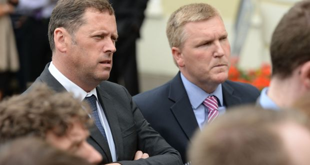 Fianna Fáil housing spokesman Barry Cowen  (left) has insisted water charges would not be imposed on the majority of the population. File photograph: Dara Mac Donaill / The Irish Times