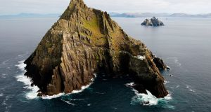 Skellig Michael: Visitor numbers rose  by well over 1,000 in 2016, understood locally as due to the filming of Star Wars on the island in 2015. Photograph: Brian Lawless/PA