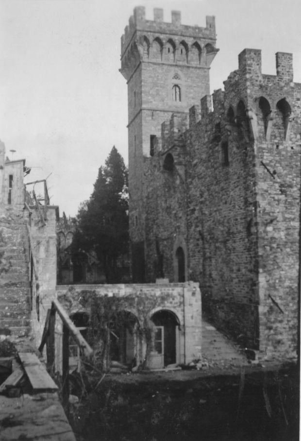 Vincigliata Castle outside Florence, where Irish officers O'Connor and De Wiart were among the most determined escapers