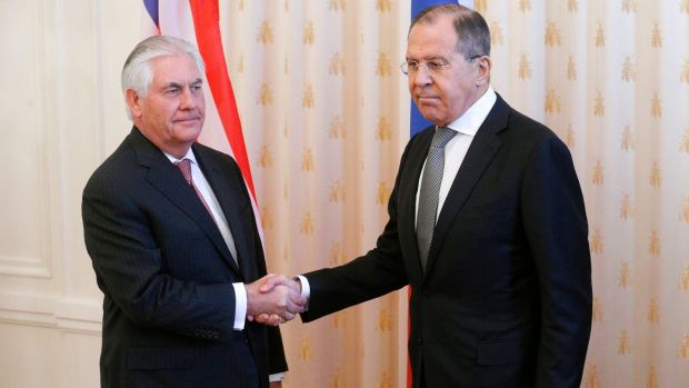 Us and russia in dialogue of sorts us secretary of state rex tillerson is greeted by russian foreign minister sergei lavrov in moscow m4hsunfo